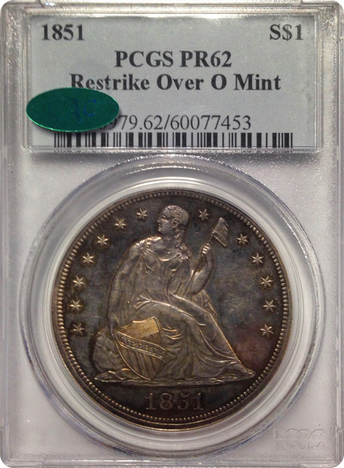 "1851 Over ""O"" mint"